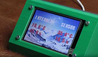 ESP8266 Nextion LCD WiFi weather station